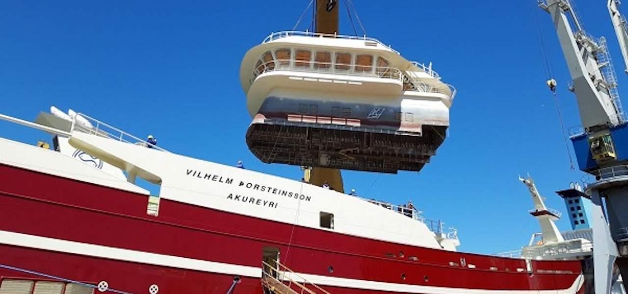 Samherji's new Vilhelm Thorsteinsson afloat