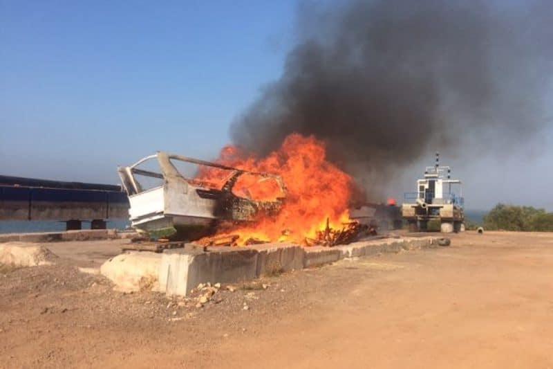 Crew plead guilty – boat destroyed