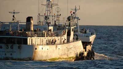 Multinational co-operation targets and catches suspected illegal fishing