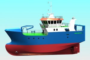 The new 27 metre fishing vessel is being built for Marfish - @ Fiskerforum
