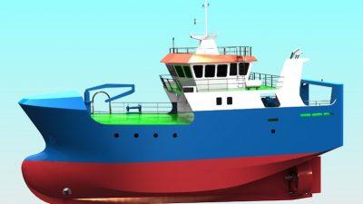 Baltic trawler's keel laid at Kaliningrad yard