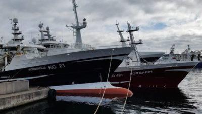 Faroese fishermen protest