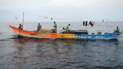 African fishermen undertake high risks to make a living