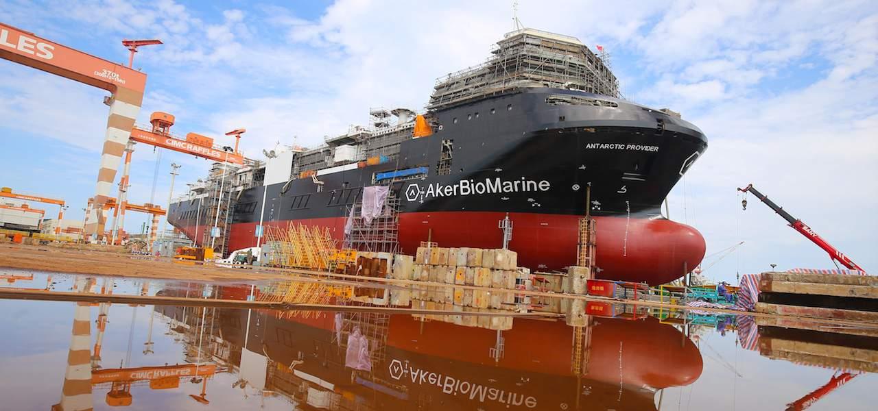 Antarctic tender to support krill harvesting