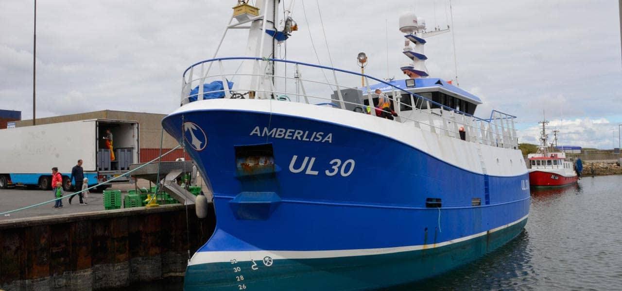 Scottish crabber lands in Denmark
