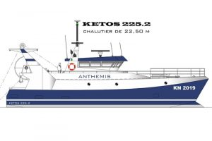 The new trawler is scheduled for delivery in 2019 and replaced the older Nominoe. Image: Piriou - @ Fiskerforum