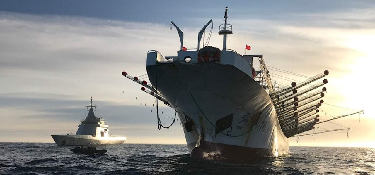 Chinese jigger intercepted by Argentine Navy