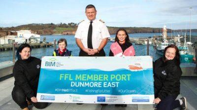 Dunmore East fishermen tackle marine litter