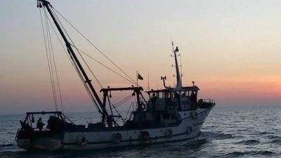 Bulgarian fishermen protest