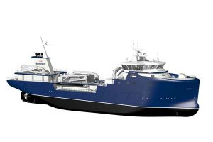 Rolls-Royce to design and power live fish carrier for the Faroe Islands.  Photo:  The new fish carrier for Bakkafrost Raroe Islands - Rolls Royce - @ Fiskerforum