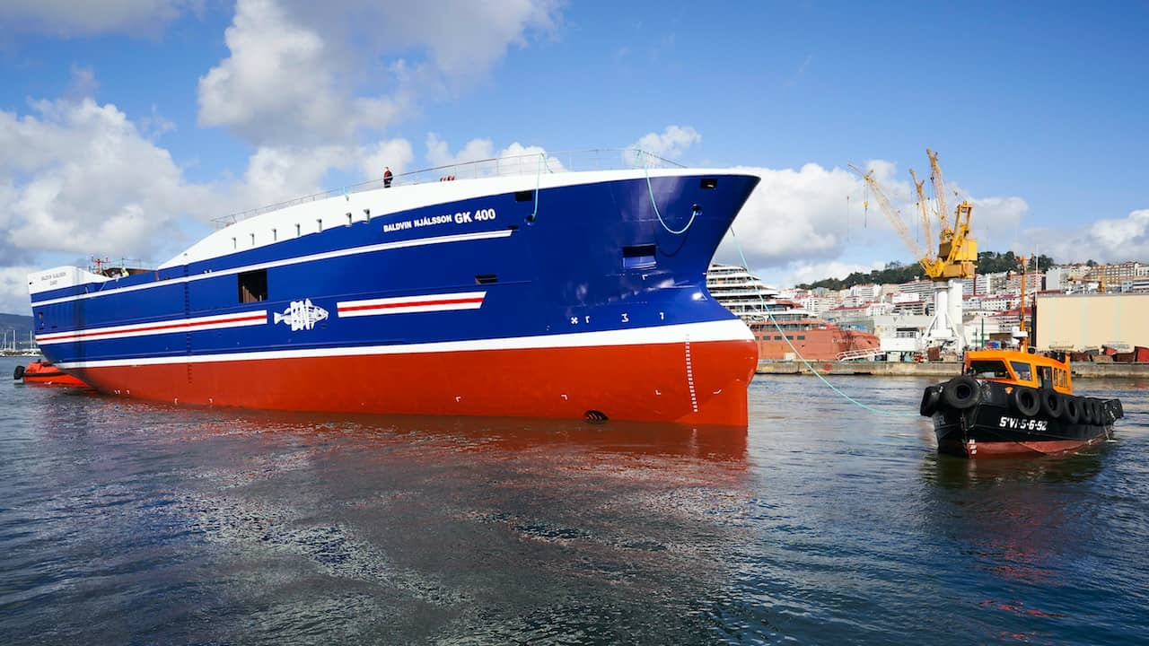 Armon launches trawler for Icelandic owners