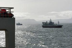 Pelagic vessels sitting out the storm in Donegal Bay. Image: SVN/Tómas Kárason - @ Fiskerforum