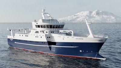 Norwegian innovation for triple purpose fishing vessel
