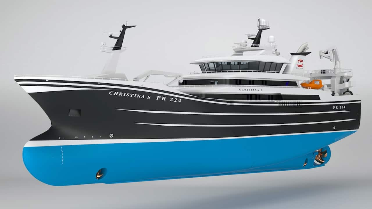 Read more about the article Order placed for new pelagic trawler Christina S