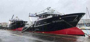 Trawler pair delivered by Boulogne yard