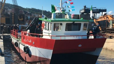 Catamaran launch for Algerian yard