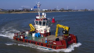 Damen delivers fish farm service vessel