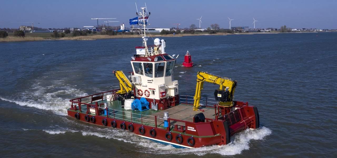 Damen delivers fish farm service vessel