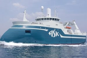 Fisk Seafood's Drangey is one of the many new trawlers supplied by Ísfell with Bridon warps - @ Fiskerforum