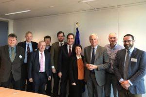 EUFA members with Michel Barnier. Image: EUFA - @ Fiskerforum