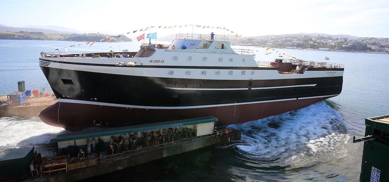 Gondan launches Norwegian factory trawler