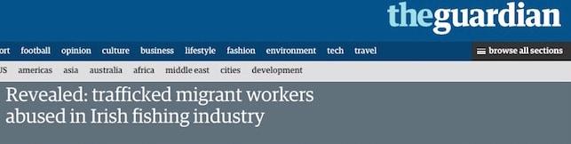 Irish fishermen sue Guardian for defamation