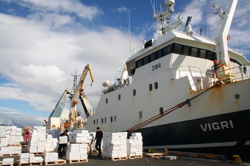 HB Grandi's new freezer trawler for sale on the slipway?