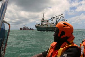 Monitoring fishing activity in Mozambique waters. Image: Stop Illegal Fishing - @ Fiskerforum