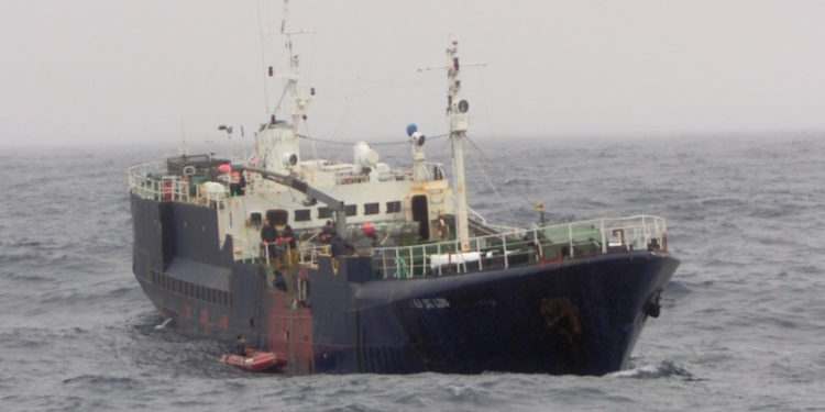 Itziar was a notorious IUU fishing vessel until its career was finally brought to an end - @ Fiskerforum