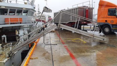 Make way for the new gangway