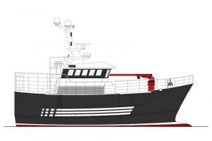 This 19 metre fishing vessel  is being built at SBA in Vietnam. Image: Macduff ship Design - @ Fiskerforum