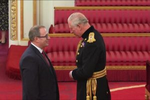 Mike Park received his OBE from Prince Charles. Image: SWFPA - @ Fiskerforum