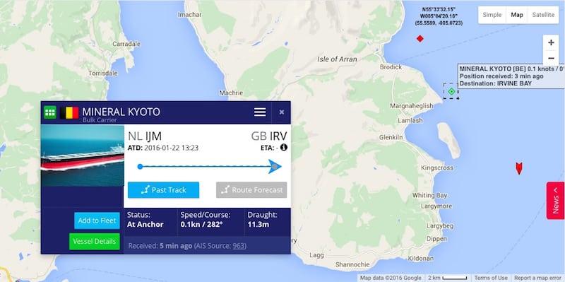 Bulk carrier anchors in MPA
