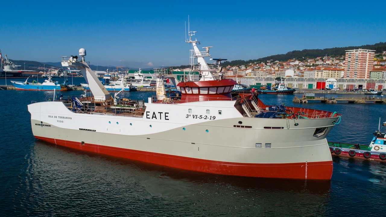 NAFO trawler launched for outfitting