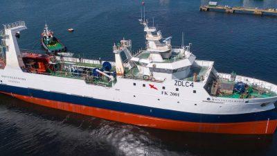 Nodosa launches Falklands trawler