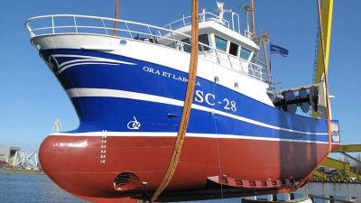 Ora et Labora – PTS delivers partially outfitted trawler for Vestvaerftet