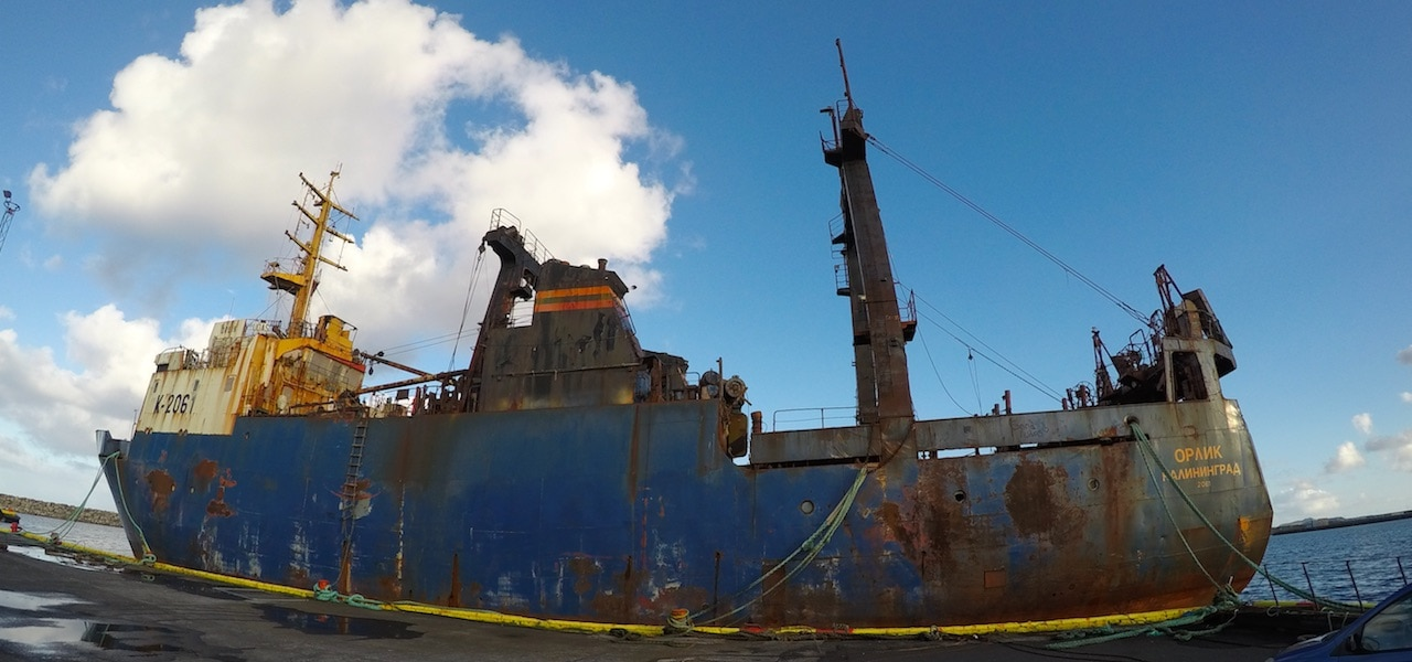 End of the line for abandoned trawler