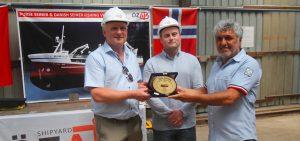 Özata Shipyard starts cutting steel for new Vikanøy