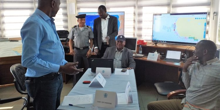A joint fisheries surveillance operation organised in West Africa within the framework of the EU PESCAO project. Image: EFCA - @ Fiskerforum