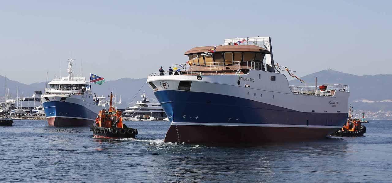 New Pescanova trawler floated off