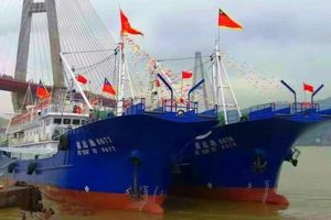 Pingtan fishing vessels commissioned earlier this year for fishing in the Indian Ocean. Image: Pingtan Marine Enterprise - @ Fiskerforum