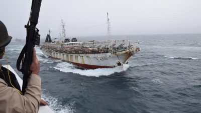 Argentina's Coast Guard fires on Chinese squid catcher