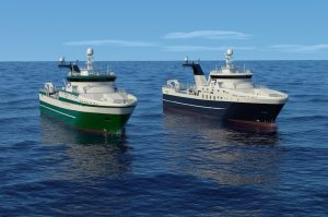 Trawlers for Greenland are Rolls-Royce's NVC 375 design - @ Fiskerforum