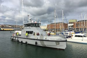 FPV Rhodri Morgan arriving in Milford for the first time. Image: Milford Marina - @ Fiskerforum
