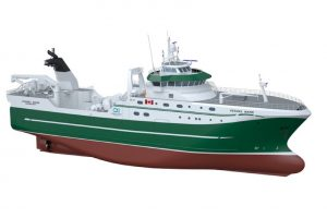 The new Ocean Choice trawler designed by Skipsteknisk and is to be built at Tersan. Image: Skipsteknisk - @ Fiskerforum