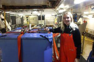 Unnur Inga Kristinsdóttir on board Bjartur - @ Fiskerforum