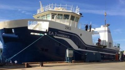 New Harðbakur floated off at Vard