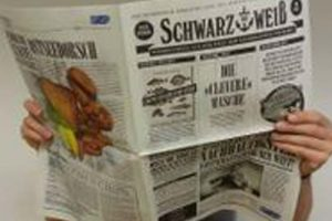 Sustainable Seafood Week Germany.  Photo: News paper  called In black and white - MSC - @ Fiskerforum
