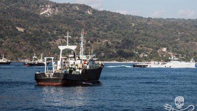 Illegal fleet caught in a dawn raid