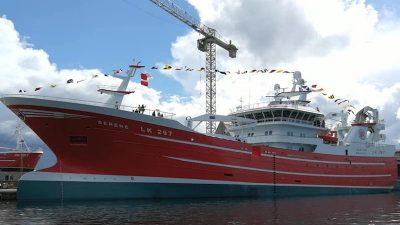 Shetland pelagic vessel Serene christened